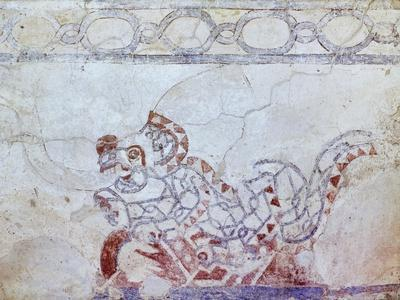 Example of a Fresco from the Teotihuacan Civilization, Mexico, 250 BC-900 AD