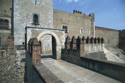 Arched Entrance to Citadel, Perpignan, Languedoc-Roussillon, France