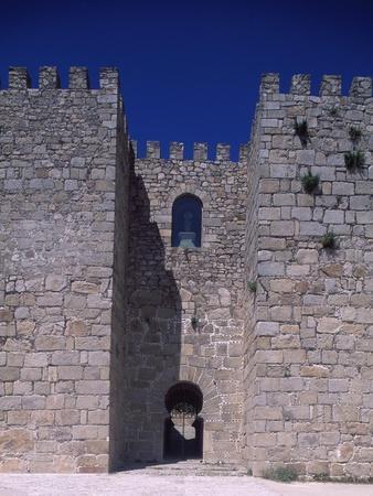 Spain, Extremadura, View of Trujillo Castle