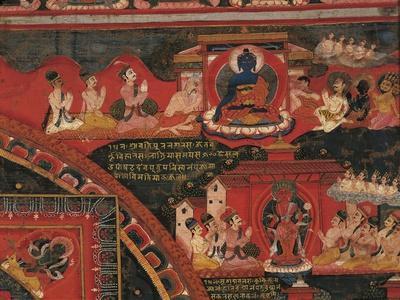 Adoration of Brahmanic Deities, Detail from Mandala of Amoghapaca, 1860