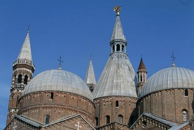 Domes and Towers of Basilica Di St. Anthony, Padua, Veneto, Italy