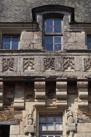 Architectural Detail from Chateau De La Motte-Glain, La Chapelle-Glain, Pays De La Loire, France