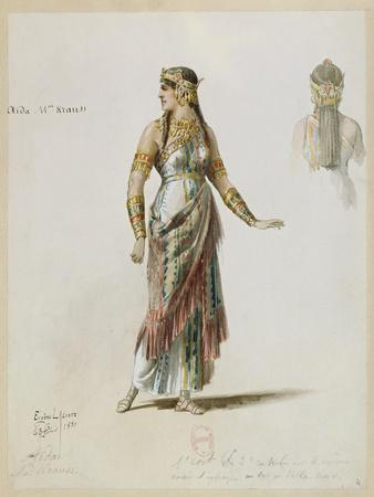 France, Paris, Costume Sketch