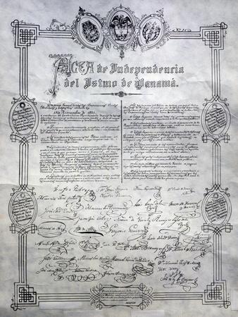 Declaration of Independence on Isthmus of Panama, 1821, Panama