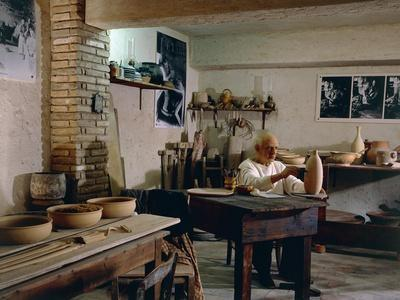 Reconstruction of Pablo Picasso's Studio in Fifties, Vallauris, Provence-Alpes-Cote D'Azur, France