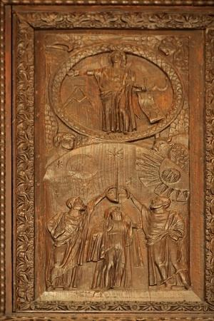 Panel from 5C Door: the Ascended Christ - the Parousia