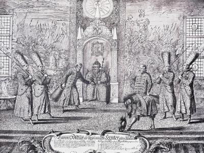 Audience of Ambassadors with Tsar Alexei Mikhailovich, 1674