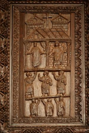 Panel from 5C Door: Scene Uncertain, an Annunciation, Hommage to a Praying Man