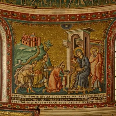 Mosaic in the Apse with the Adoration of the Magi