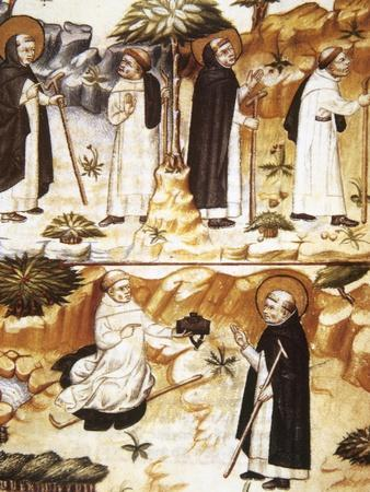 Middle Ages. Monastic Life. Episodes from the Life of Saint Dominic
