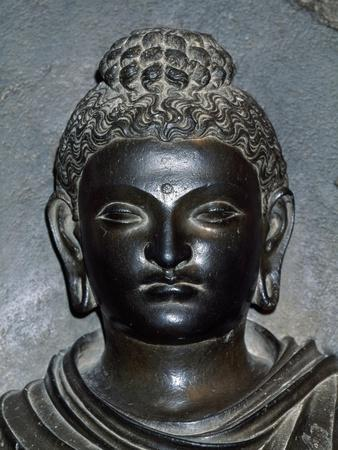 Detail of Face of Buddha Statue from Archaeological Site in Lahore, Pakistan