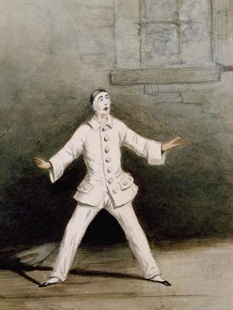 Dancer Karl Schadetzky in Role of Pierrot