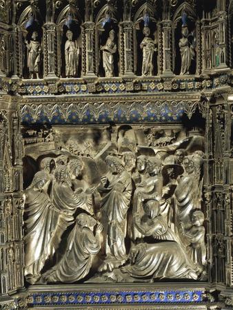Detail from Stories from Life of Saint John the Baptist: Jesus Receiving Messengers of Saint John