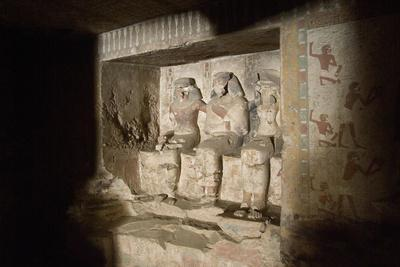 Egypt, Thebes, Luxor, Sheikh 'Abd Al-Qurna, Tomb of First Herald Duaerneheh, Sculpture