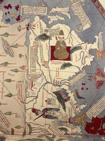 Indus and Ganges River, China and Japan, Detail from a Planisphere, 1457