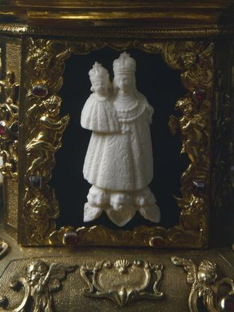 White Jade Figurine, from Silver-Gilt Altarpiece with White and Green Jade Crucifix