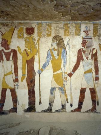 Wall Paintings from Tomb of Pa Nentwy, Bahariya Oasis, Giza, Egypt