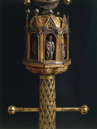 Processional Cross of Saint Maximus, in Silver, Enamel and Copper