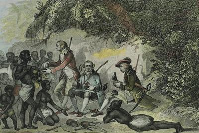 James Cook Meets the Tahitians