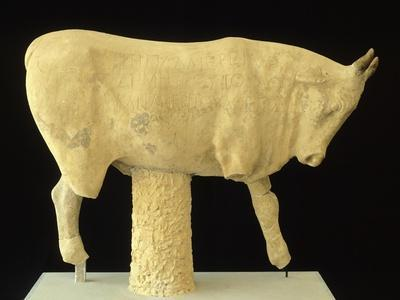 Marble Bull Sculpture Dedicated to Zeus BC, Ancient Greece