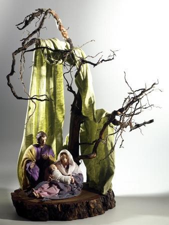 Nativity, Nativity Scene Made of Wood, Italy