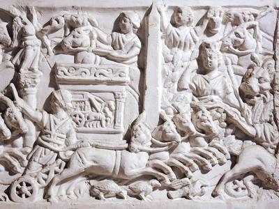 Detail of Relief Depicting Races in Circus,