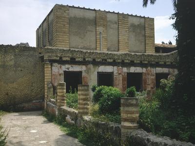 Italy, Campania, Herculaneum, Peristyle Surrounding Garden of House of Mosaic Atrium