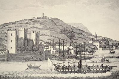 A View of Torri Del Benaco on Lake Garda, Italy