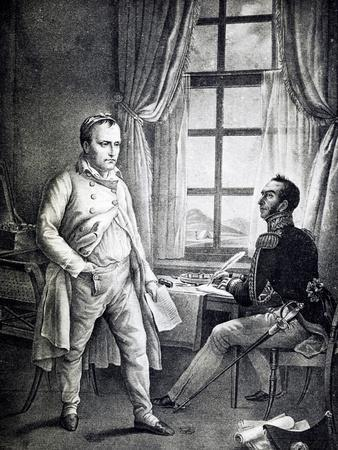 Napoleon at St Helena Recounting His Memoirs to General Gaspard Gourgaud, France