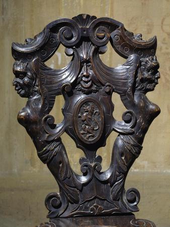 Pisani Coat of Arms Carved on Chair Back, Villa Pisani, Bagnolo Di Lonigo, Veneto, Italy, Detail