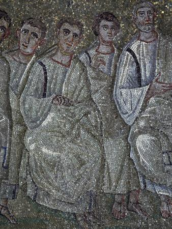 Christ in College of Apostles, Detail from Mosaics in Chapel of Saint Aquilino