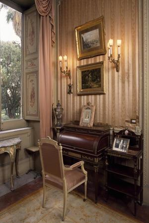 Louis XVI-Style Pink Cabinet