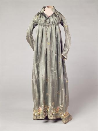 Mauve Satin Dress with Polychrome Embroideries, 1805