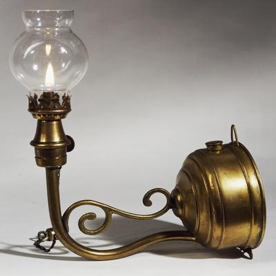 Gasoline Wall Lamp with Round Wick, France