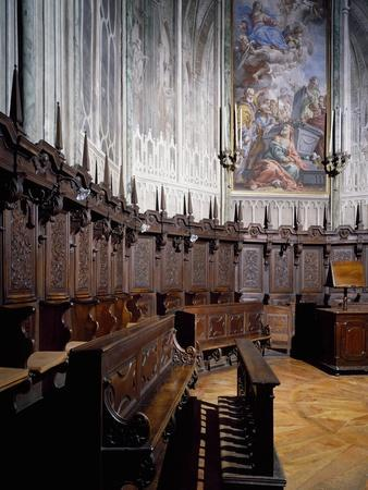 The Choir of the Cathedral of Biella. Italy,15th-19th Centuries.