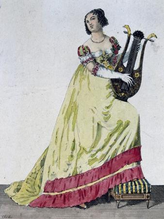 Women's Costume for Comic Opera Ninon at Madame De Sevigne