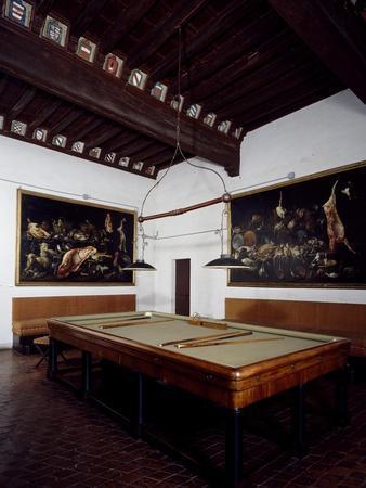 Glimpse of Billiard Room, Rocca Sanvitale, Fontanellato, Near Parma, Emilia-Romagna, Italy