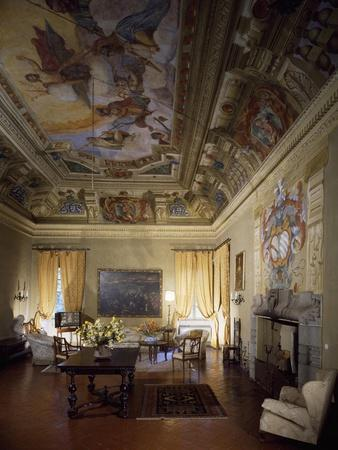 Italy, Brescia, Castle of Bornato, Hall of the Gods