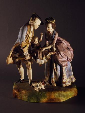 Gallant Group, 1870-1880, Porcelain