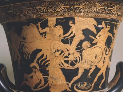 Attic Krater Showing Scene of Gigantomachy