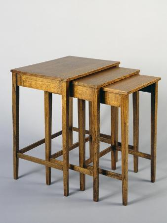 Nested Tables, 1930-1940, Oak, United Kingdom