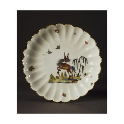 Saucer Decorated with Imaginary Animals, 1740