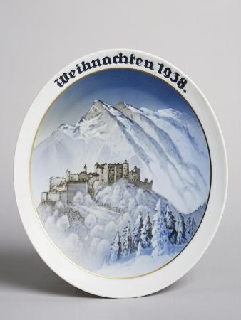Christmas Plate, 1938, Ceramic, Rosenthal Manufacture, Selb, Bavaria, Germany