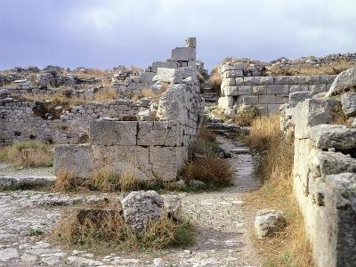 Ruins in Ancient Thera, Santorini, Greece, 4th-1st Century BC