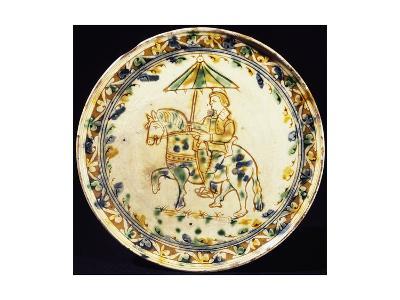 Plate, Ceramic, Emilia Manufacture, Italy, 17th-18th Century
