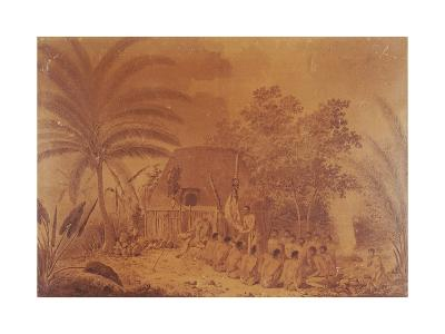 Offerings to Captain James Cook by John Webber, Polynesia 18th Century