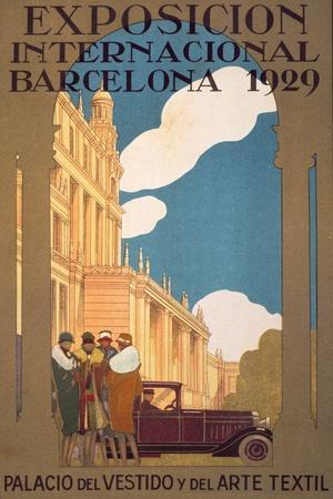 Publicity Poster for the International Exhibition, Barcelona, 1929