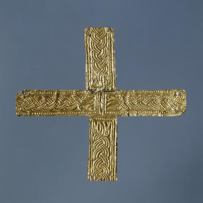 Small Gold Cross from Fornovo San Giovanni, Lombardy, Italy