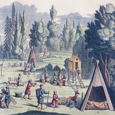 Scene of Everyday Life, Lapland, Sweden 19th Century