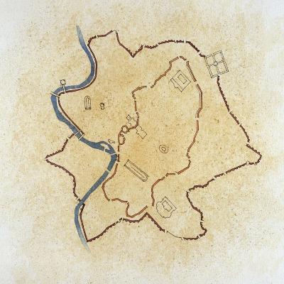 Rome's Aurelian Wall Plan, 271-279 Ad